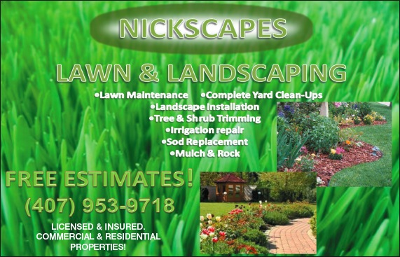 Nickscapes Landscaping Service in Lake Mary and Heathrow